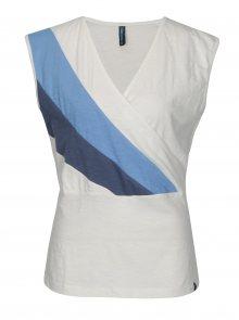 Krémové tričko s překládaným výstřihem Tranquillo Musa