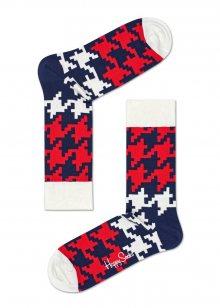 Happy Socks barevné pánské ponožky Dogtooth - 41-46
