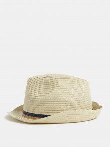 Béžový klobouk s pruhy Burton Menswear London