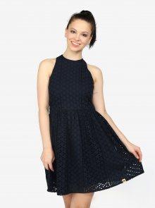 Tmavě modré vzorované šaty Superdry