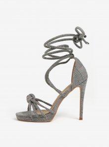 Černo-šedé vzorované sandálky MISSGUIDED