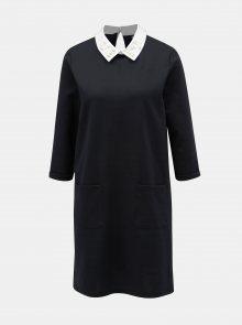 Černé šaty s límečkem ONLY Mally