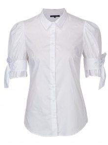 Bílá košile s mašlí na rukávech French Connection Eastside