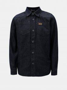 Tmavě modrá klučičí džínová košile s náprsními kapsami North Pole Kids