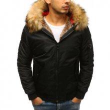Pánská zimní bunda bomber jacket černá