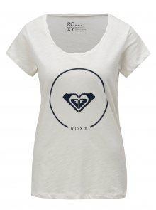 Bílé dámské tričko s potiskem Roxy Bobby