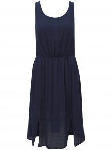 Tmavě modré šaty s mašlí na zádech Broadway Farva
