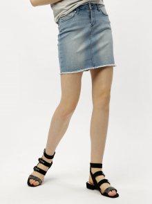 8b08cd02044 ONLY Béžová kostkovaná sukně ONLY Rosaria. Světle modrá džínová sukně ONLY  Pearl