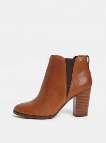 Hnědé dámské kožené chelsea boty ALDO Pessa