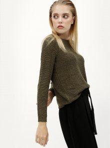 Khaki svetr s pásky na zádech ONLY Gabbi String
