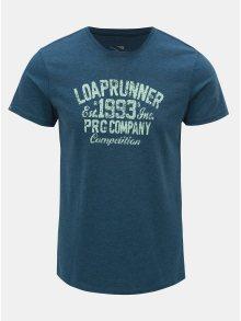 Modré pánské žíhané tričko LOAP Azro