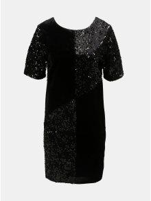 Černé sametové flitrované  šaty Dorothy Perkins