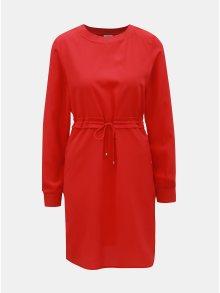 Červené šaty se stahováním v pase Noisy May Monty