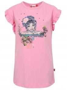 Růžové holčičí tričko s volány Lego Wear Tillie