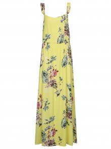 Žluté květované maxišaty s volány VILA Tetri