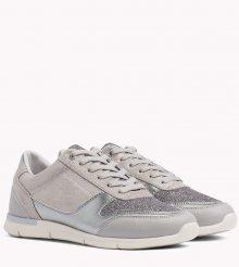 Tommy Hilfiger šedé tenisky Sparkle Light Sneaker Diamond Grey - 37