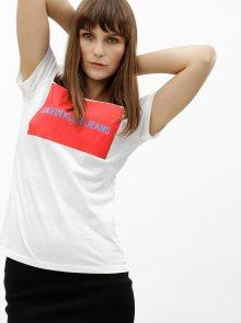 Bílé dámské tričko s potiskem Calvin Klein Jeans