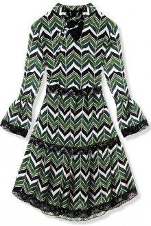 Zelené vzorované šaty