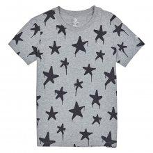 Converse šedé tričko Graffiti Star Crew Tee - XS