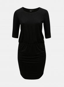 Černé pouzdrové šaty s krátkým rukávem Zizzi Ralfi
