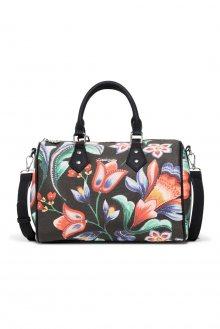 Desigual černá kabelka Kora Bowling s barevnými květinovými motivy