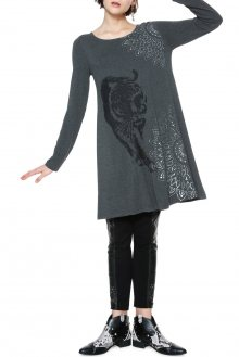 Desigual šedé šaty Pikory - XS