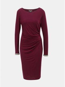 Vínové šaty s řasením na boku Billie & Blossom by Dorothy Perkins Tall