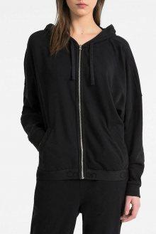 Calvin Klein černá dámská mikina Full Zip Hoodie - XS