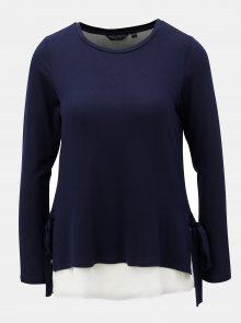 Tmavě modré tričko s dlouhým rukávem Dorothy Perkins