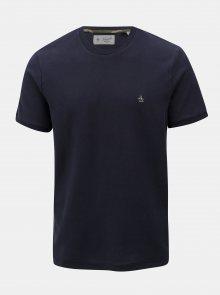 Tmavě modré basic tričko s drobnou výšivkou Original Penguin Camo logo