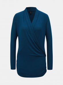 Modrý překládaný svetr VERO MODA Jakuri