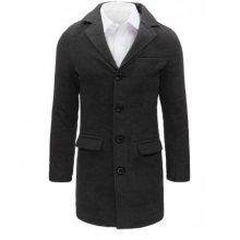 Tmavě šedý pánský kabát