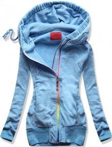 Modrá mikina D391