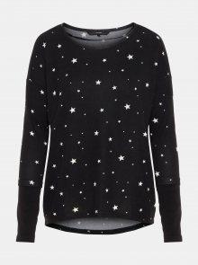 Černý vzorovaný lehký svetr VERO MODA Snowy