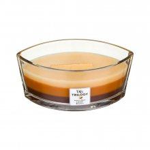 WoodWick Dezert v kavárně - svíčka ve skleněné dekorativní váze s dřevěným víčkem\n\n