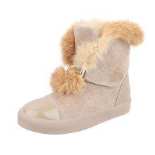Dámské vysoké zimní boty s kožešinou