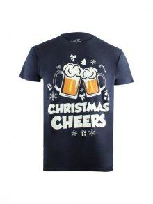 Christmas T-shirt Pánské tričko GOMTS045NVY\n\n