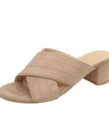 Dámské pantofle s podpatkem