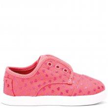 Toms růžové dětské boty Paseo Pink Canvas Hearts - 22