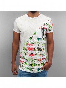 Tričko Floral šedá M