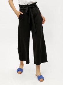 Černé culottes s vysokým pasem ONLY