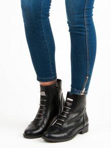 Černé botky na zip