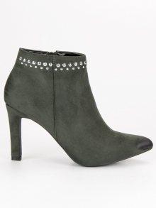 VINCEZA Dámské kotníkové boty YQE19-1776GR