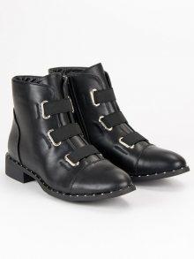 Dámské černé kotníkové boty
