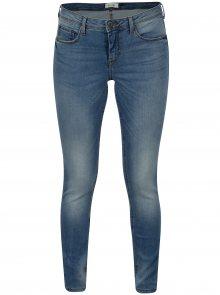 Modré slim fit džíny s vyšisovaným efektem Blendshe Bright Azura