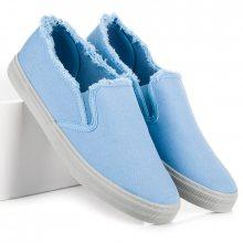 Stylové modré nazouvací tenisky