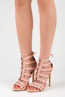 Sexy růžové sandály na vysokém jehlovém podpatku
