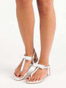 Bílé sandály s mašličkou