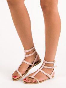 Moderní růžové sandály