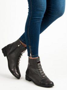Šedé botky na zip